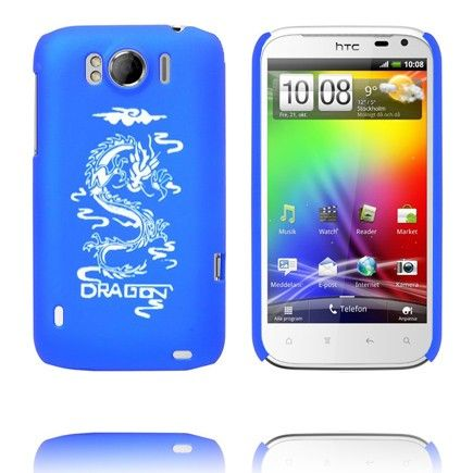 White Dragon (Blå) HTC Sensation XL Cover