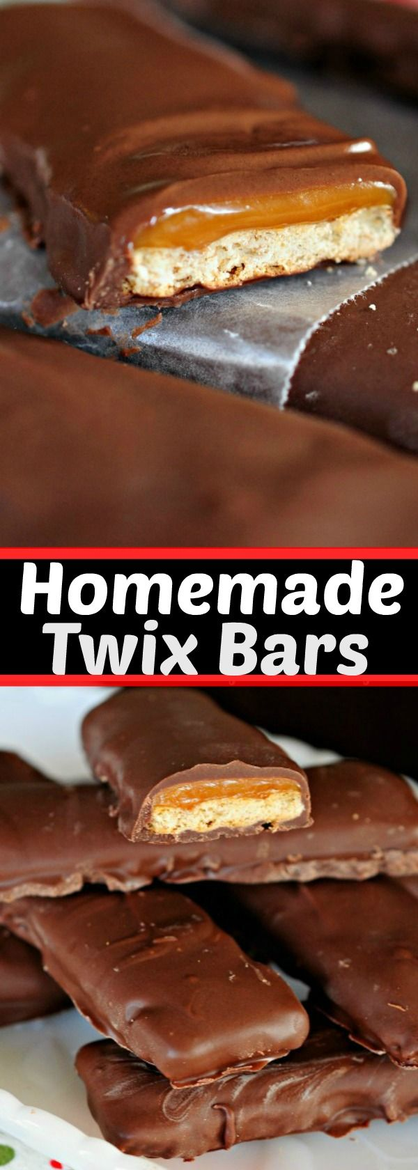 Easy Homemade TWIX Bars! Just 4 simple ingredients is all it takes to make these homemade candy bars in minutes!