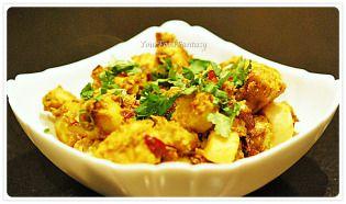 masala arbi at your food fantasy by meenu gupta