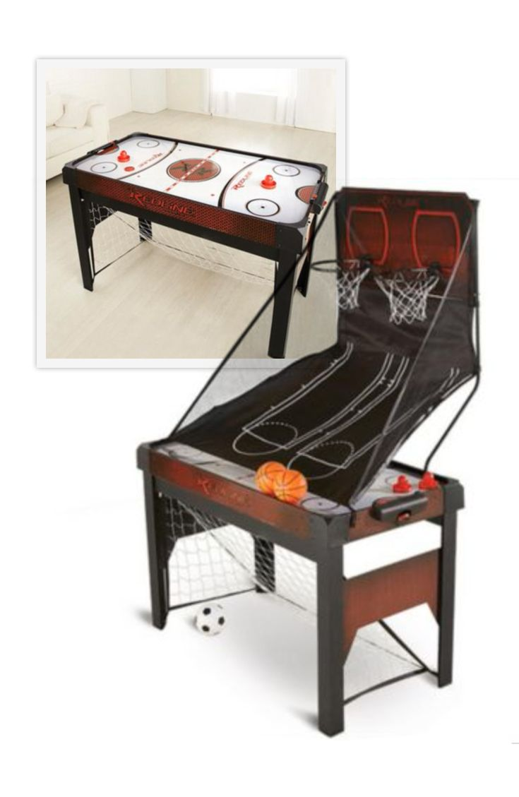 Bring the excitement of the games indoors with this 3-in-1 game table. Perfect for the fun loving Dad