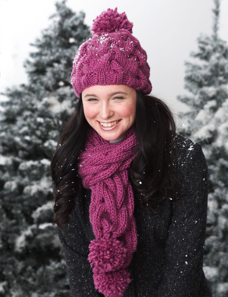 Free Pattern: Snowdrift Cable Set