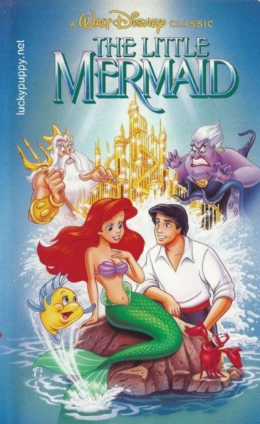 When the Little Mermaid made it to VHS it was on the shelves for a short time before Disney announced that it was being pulled, never to be offered again. It was then almost immediately re-released with new art. The original was made during labor disputes within the art department. Can you see what they did to the Mermaid art? Disney was buying back all of the art work. A lobby poster was going for $10,000.  Comment if you have the answer.