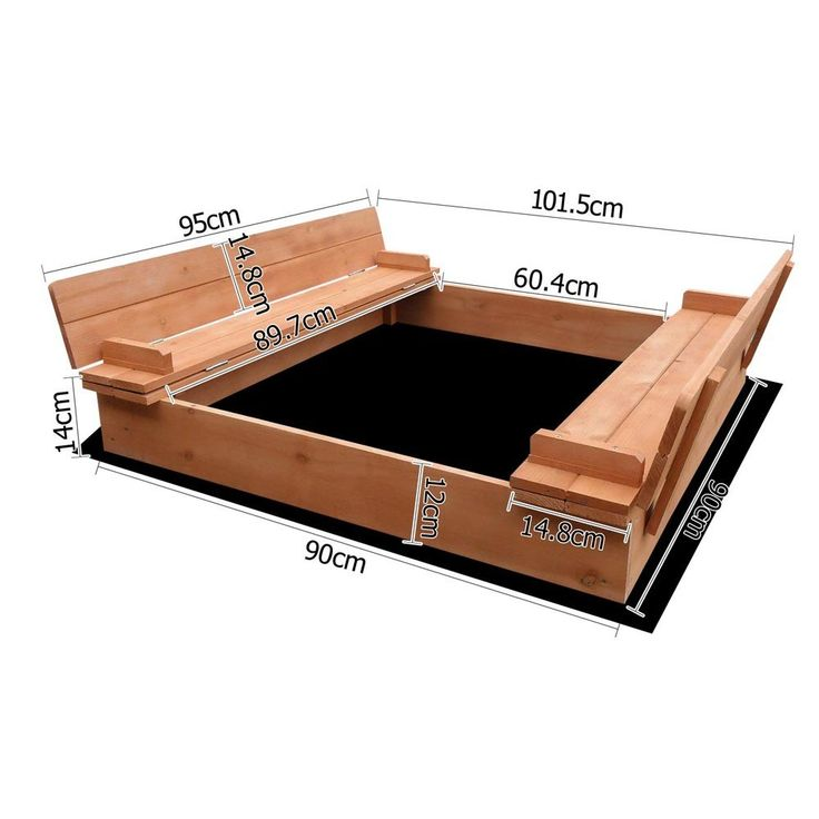 Sand Pit with Lid Dimensions