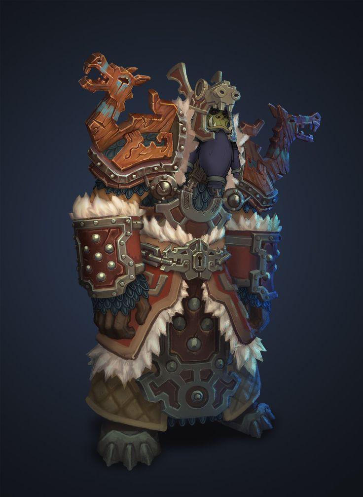 Warcraft Fan Art- Vrykul armor, Ian Jacobson on ArtStation at http://www.artstation.com/artwork/warcraft-fan-art-vrykul-armor