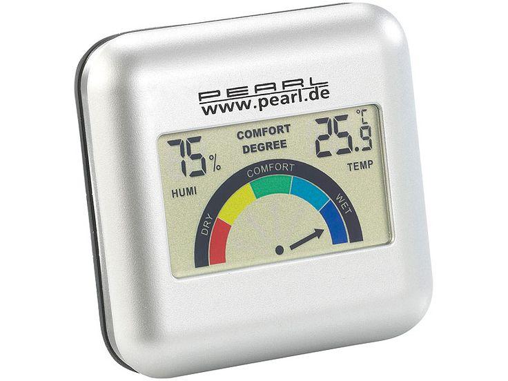PEARL Digitales Hygrometer mit Thermometer