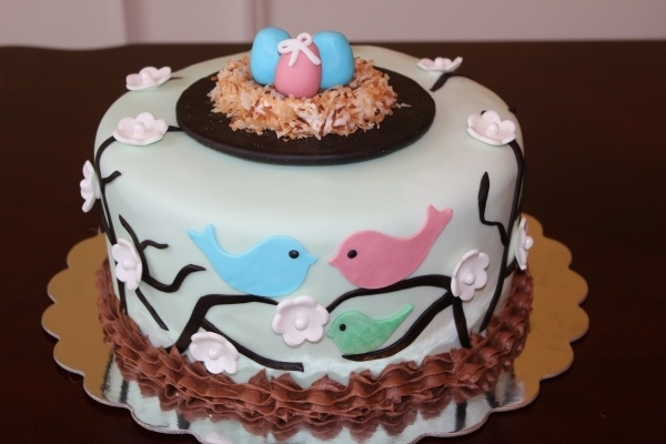 Triplet Baby Shower Cake. Would be super cute for any number of babies! :)