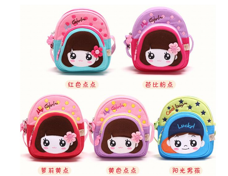 Korean Style Canvas Leather teenage Handbags Sweet Girl Kawaii Children Snow White cartoon mini messenger bag cute little bags - Top Kawaii - Best Online Kawaii Shop Top Kawaii - Best Online Kawaii Shop