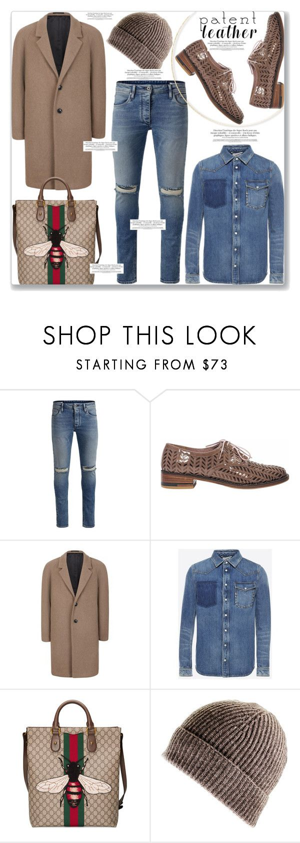"""""""Shoes, Bag and all"""" by mood-chic ❤ liked on Polyvore featuring Jack & Jones, Robert Clergerie, Topman, Valentino, Gucci, Black, men's fashion, menswear and patentleather"""