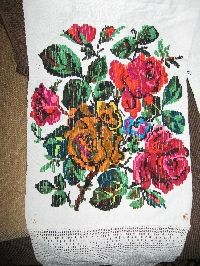 Antique hand woven traditional Romanian decorative towel from Transylvania .  Available at www.greatblouses.com