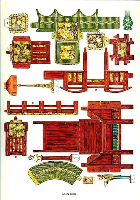 Paper Dollhouse Furniture0002 (491x700, 134Kb)