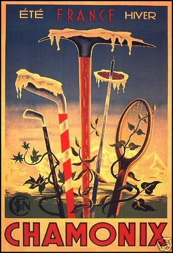 Vintage Poster 'Chamonix, France'