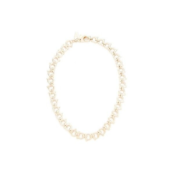 Salvatore Ferragamo Collane Necklace (22.920 RUB) ❤ liked on Polyvore featuring jewelry, necklaces, oro, salvatore ferragamo, polish jewelry, choker necklace, salvatore ferragamo jewelry and adjustable necklace