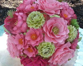 Paper Bouquet Paper Flower Bouquet Wedding от morepaperthanshoes