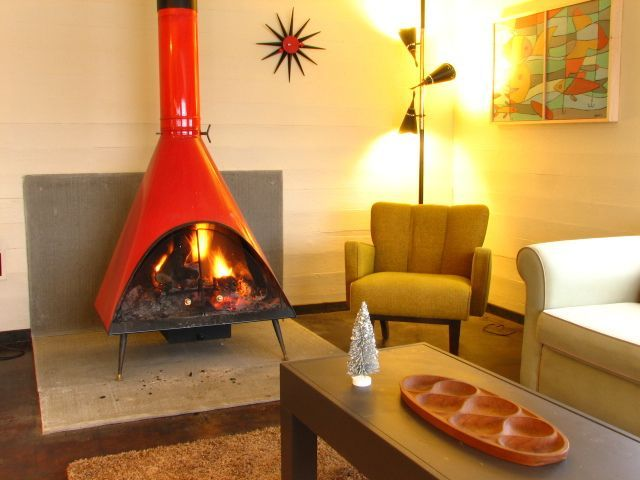 Image result for mid century modern fireplace for sale