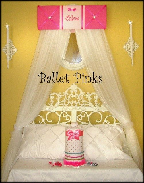 Embroidered Bed Canopy CROWN Princess Ballerina by SoZoeyBoutique, $42.95