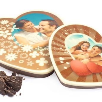 Een hart van chocola voor het geliefde stel. Vanaf €14,95