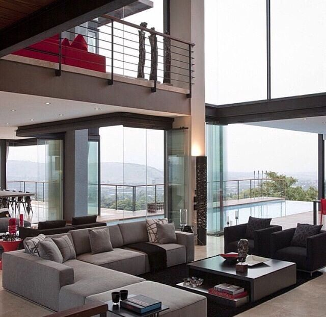 Geometric Designed House With In Built Pool And Contemporary Furniture Modern AsianHome Interior DesignHome