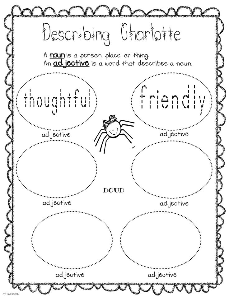 Charlotte's Web Cast of Characters booklet will make a perfect addition to any springtime or animal unit. Students create their own cast of characters book by listing adjectives that describes each character in Charlotte's Web. $ #charlottesweb