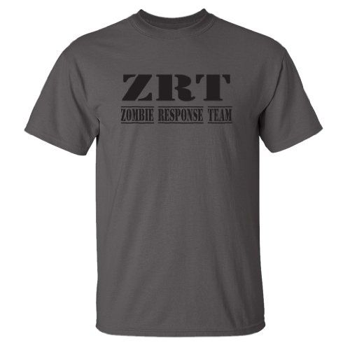 Zombie Underground - Zombie Response Team (Black) - Short Sleeve Adult T-Shirt (Assorted Colors and Sizes) (Charcoal 5X-Large)