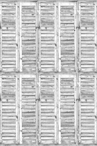 2275 Shutters Weatherd White Backdrop - Backdrop Outlet