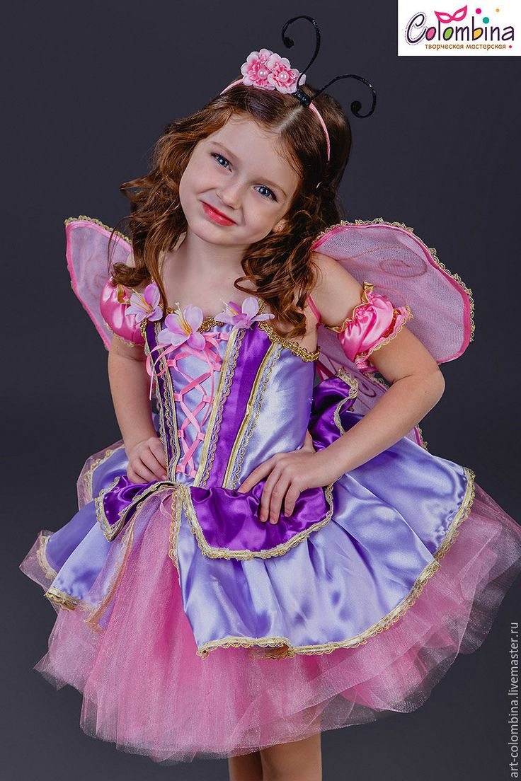 Купить или заказать Костюм бабочки в интернет-магазине на Ярмарке Мастеров. Карнавальный костюм бабочки для девочки комплектация: платье, рукавчики, усики на обруче, крылья размеры 134-146+300…