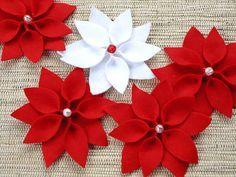 Como fazer a flor do natal em feltro, dica de artesanato | Vila do Artesão