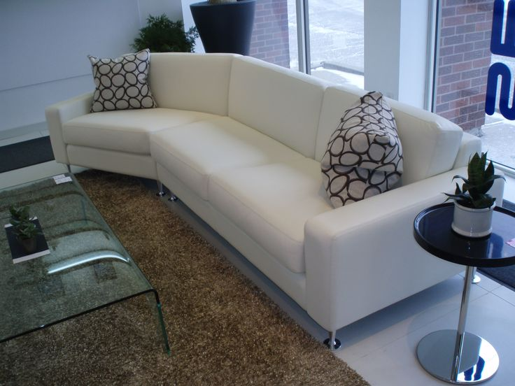 Master Sofa with 45 degree turn. Available in your choice of leather or fabric.  Products available through Selene. www.selenefurniture.com