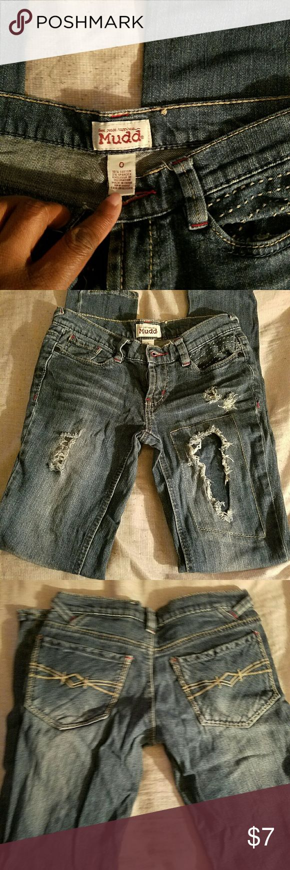 jeans Dark denim  ripped girls jeans Mudd Jeans Skinny