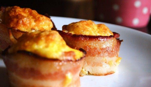 Slaninovo – sýrové muffiny