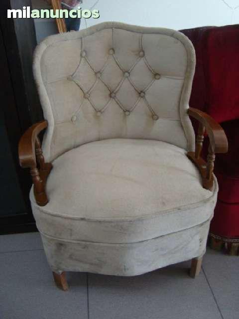 Antigua silla descalzadora para tapizar con reposabrazos de madera gastos de envio a cargo - Sillas de madera precios ...