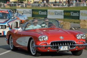 Chevrolet Corvette Convertible in smooth action.