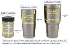 decal measurements for yeti - Google Search
