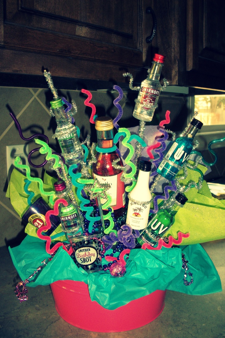 alcohol collage for 21st birthday!