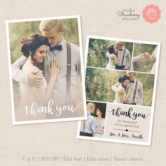 Kartenvorlage danke danke Printable von StudioStrawberry auf Etsy