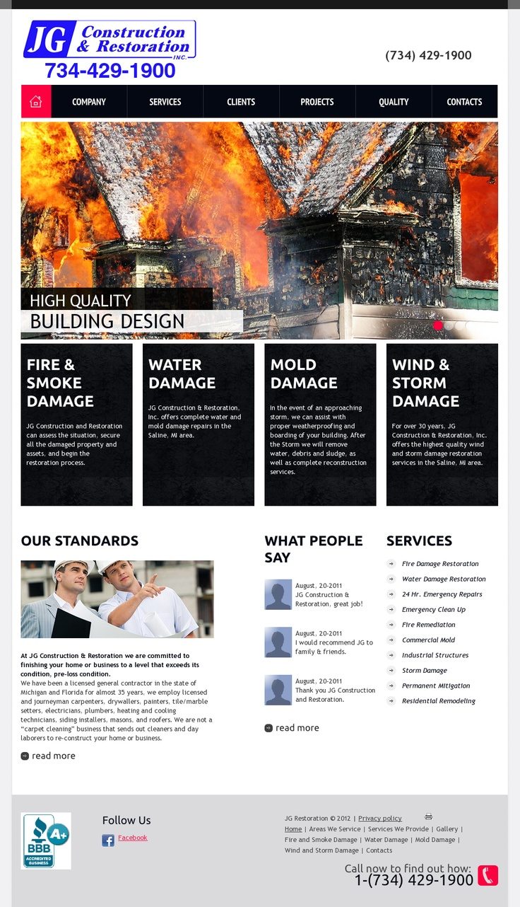 water and fire restoration business plan