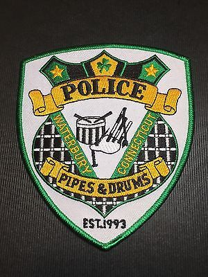 Waterbury Connecticut  Pipes & Drums  Police  Shoulder Patch