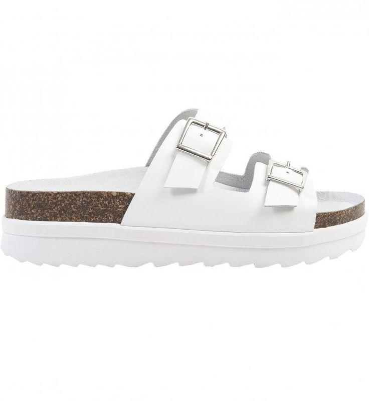 Chaussures tendances printemps été 2015 : le décryptage - Cosmopolitan.fr La vraie ? Vous la trouverez sur la boutique officielle en blanc vernis : http://www.birkenstock-france.com/sandales-arizona-papillio-femme-blanc-pa363913.html
