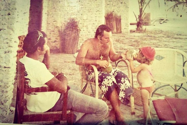 George Cobin with his daughter Georgia from Italy were the very first tourists to visit Maldives! They stayed in Kurumba Village (@kurumba_maldives)! With them was one of the pioneers of Maldives tourism industry Mr. Ahmed Naseem 1972. #maldives #kurumbamaldives #georgecobin #firsttouristtovisitmaldives