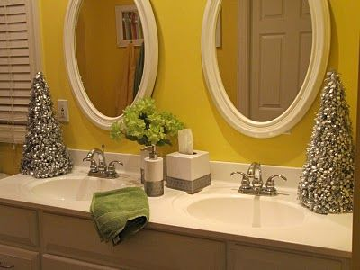add a little bit of the christmas spirit to the bathroom christmas