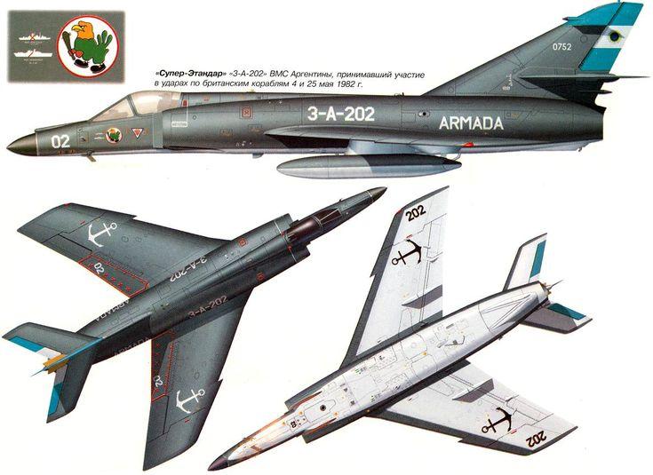 Dassault Etendard IV/Super Etendard | Argentina | 2 Escuadrilla de Caza y Ataque, Comando de Aviacion Naval Argentina | Super Etendard | 3-A-202 (0752)