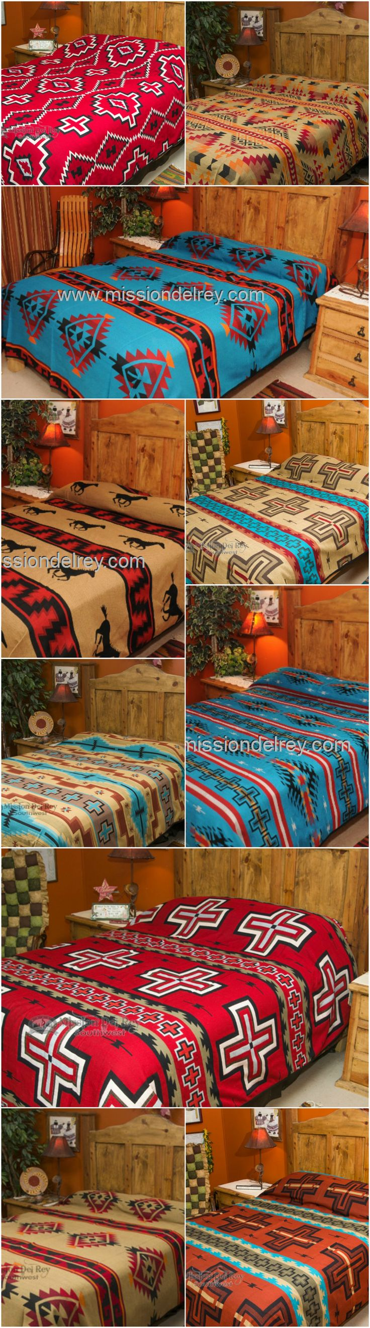 Arts and crafts style bedding - Dress Up Any Room With Great Western Style By Simply Adding A Western Bedspread From Our