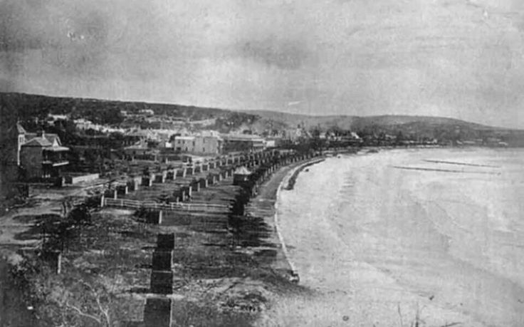 Manly Beach, North of Sydney, Australia. ca.1890's. v@e.