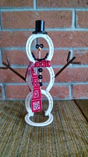 Horse Shoe Snowman #9