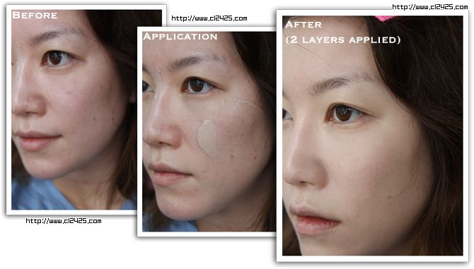 My favorite BB cream so far from the sample pack I bought.  Missha BB cream before after