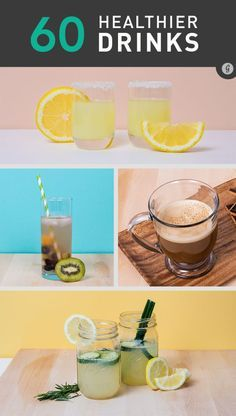 60 Healthier Drinks for Boozing - Kick-Ass Cocktails Without the Calorie Overload #healthy #cocktail #recipes