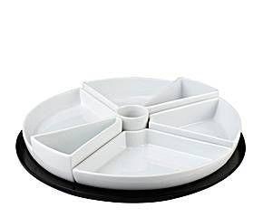 Bandeja para aperitivos en porcelana – blanca