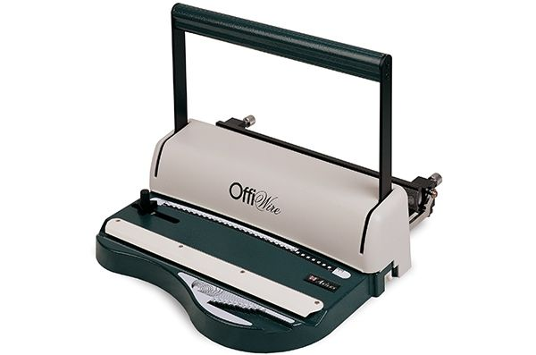 Akiles OffiWire punch and binding machine is modern, practical, reliable, and efficient. The OffiWire punches up to 10 sheets of 20lbs bond paper. Its harden steel dies allow for a clean and precise punch every time, even when perforating delicate or hard to punch materials, such as PVC, PP, Polyester, and etc.
