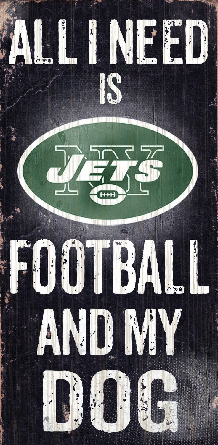 Do you love New York Jets Football and your Dog? Then you need this sign. This New York Jets sign is perfect for displaying around the house or office. It includes a piece of rope attached to the back