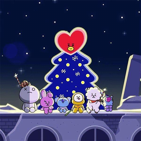 Pin By Iris Lavender On Bt21 Bts Christmas Bts Chibi Bts Fanart
