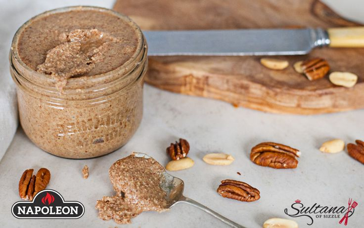 Vanilla Bourbon Pecan Butter With Fire Roasted Pecans